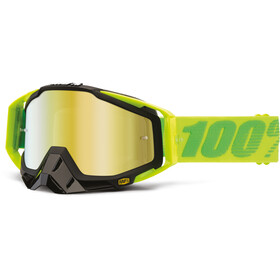 100% Racecraft Anti Fog Mirror goggles, sour patch